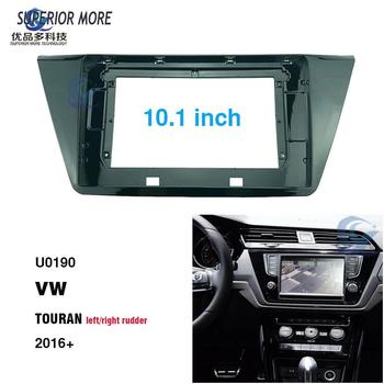 2 Din 10.1 inch car radio Fascias for VW Touran 2016 Dashboard Frame Installation dvd gps mp5 android Multimedia player image