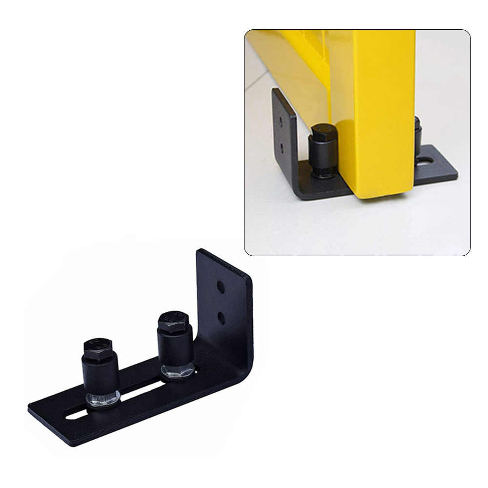 Carbon Steel Adjustable Wall Mount Sliding Barn Door Bottom Floor Guide Hardware Door Bottom Floor Guide