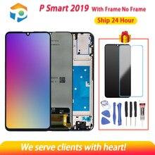 Aaa qualidade lcd para hua wei psmart 2019 display lcd com tela de toque digitador assembléia com quadro para psmart 2019 reparação parte