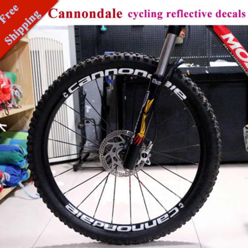 Wheel Stickers Set for Cannondaie Mountain Bike Bicycle Cycle Decal Rim Race