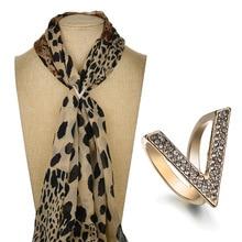 Gariton Fashion  High-Grade V-shaped Scarf Buckle Inlaid Brooch Shawl Deduction Birthday Gifts