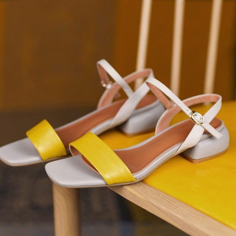 moda fivela de saltos estranhos calçados femininos