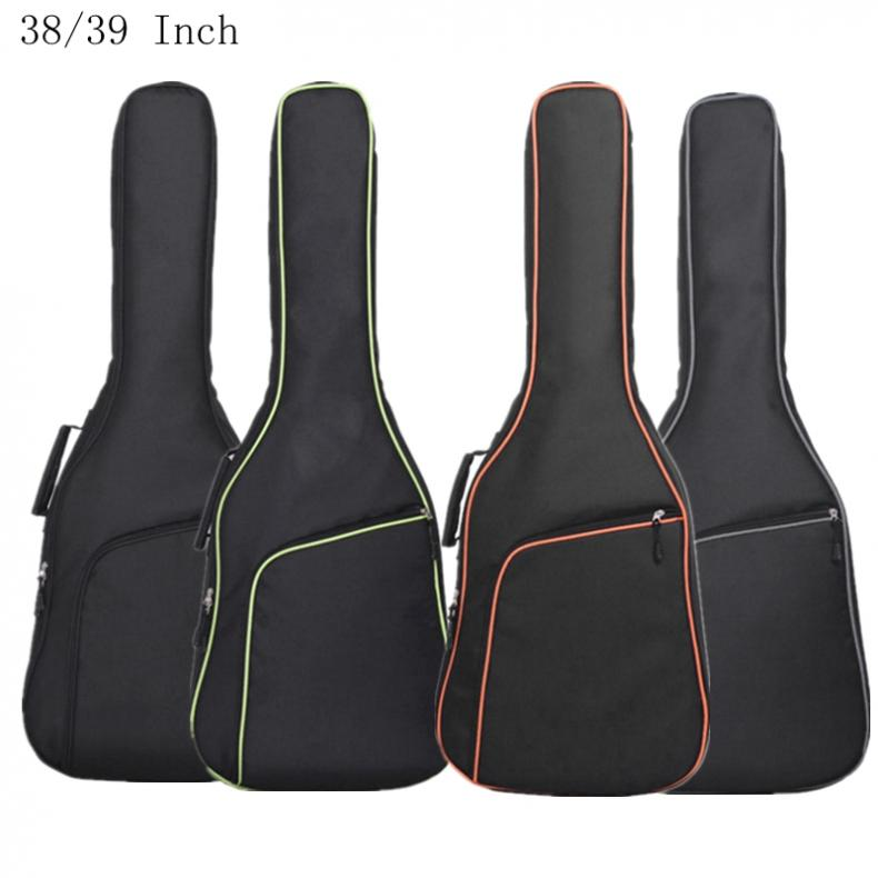 38 / 39 <font><b>40</b></font>/41Inch Oxford Fabric <font><b>Guitar</b></font> <font><b>Case</b></font> Colorful Edge Gig Bag Double Straps Padded 10mm Cotton Soft Waterproof Backpack Hot image