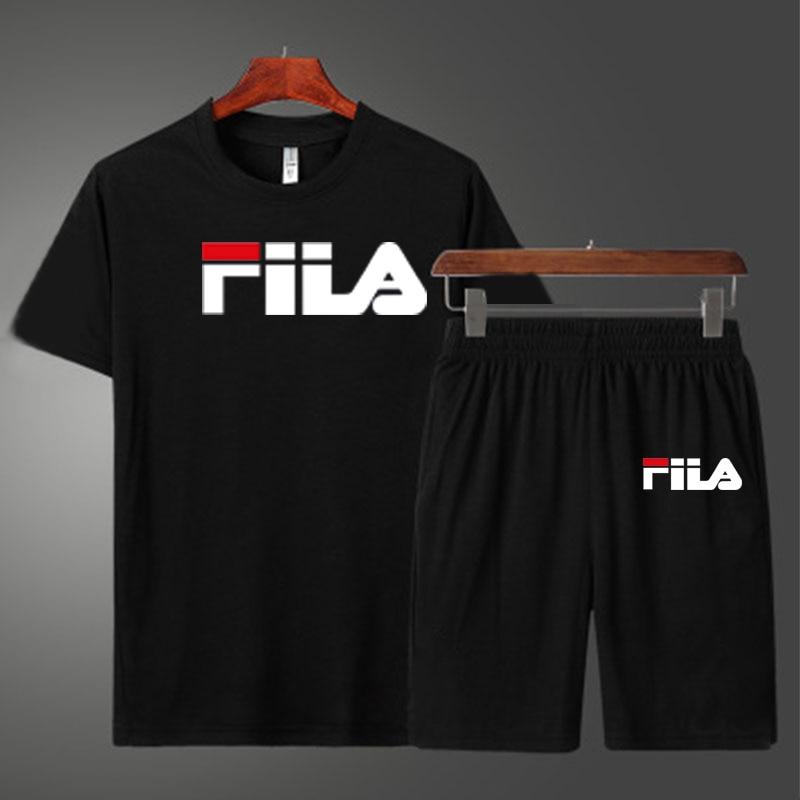 Men's suit, T-shirt, shorts, sportswear, large T-shirt, s-3xl, men's T-shirt, 2-piece T-shirt and short, summer sportswear pants