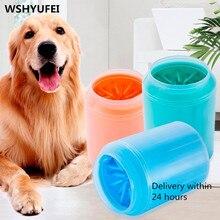 Köpek Paw temizleyici fincan yumuşak silikon tarak taşınabilir açık evcil hayvan havlusu ayak yıkama pençe temiz fırça hızlı yıkama ayak temizlik kovası