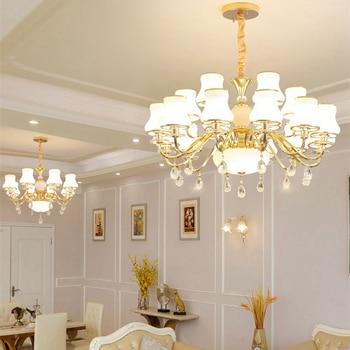 Modern Crystal Chandelier Living Room Chandeliers Luxurious Pendant European Chandelier Lighting Indoor Lamp Ceiling Chandeliers crystal chandelier living room lamp pastoral mediterranean bedroom restaurant candle chandelier blue european princess lamp
