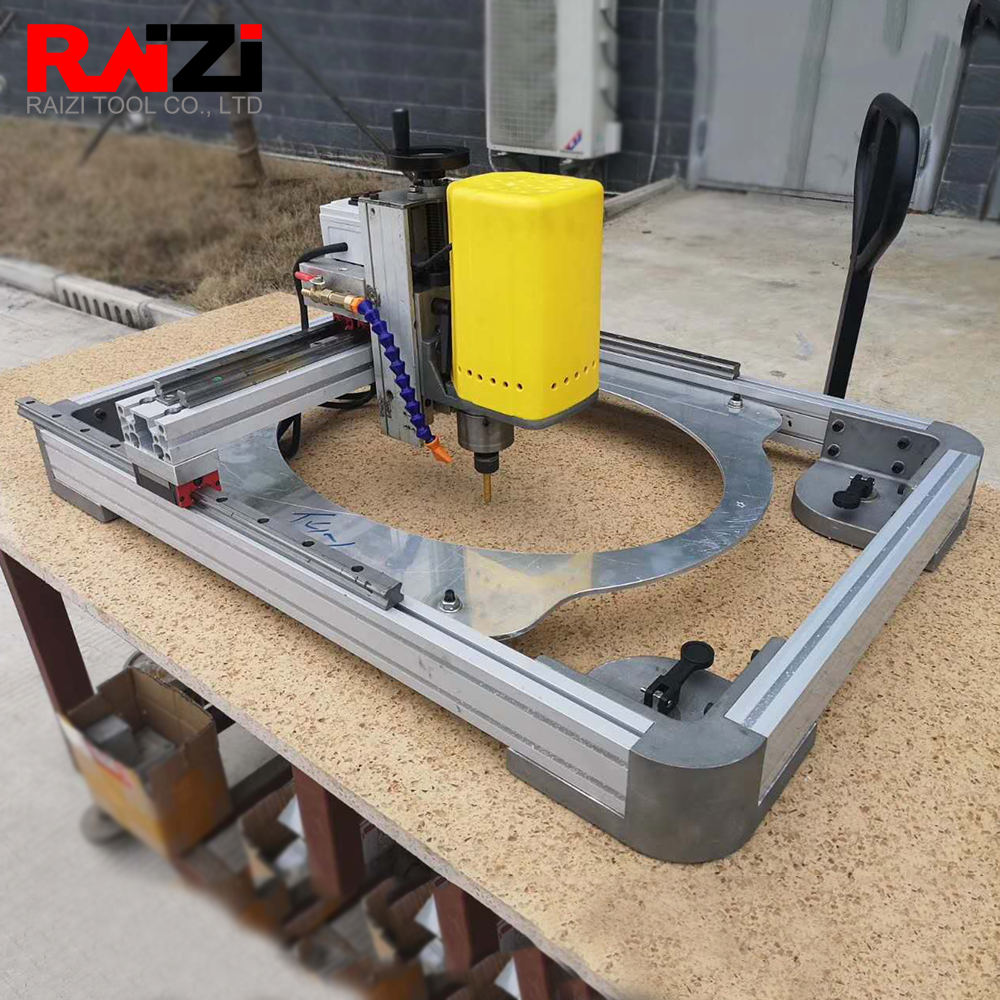 raizi potable wet air sink hole cutting machine for large format tile granite countertops hole drilling forming milling machine