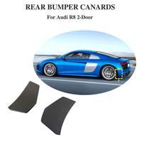 2pcs rear bumper lip para Audi R8 choques traseiro fenders vents lado Ferders divisor 2016 2017 2018