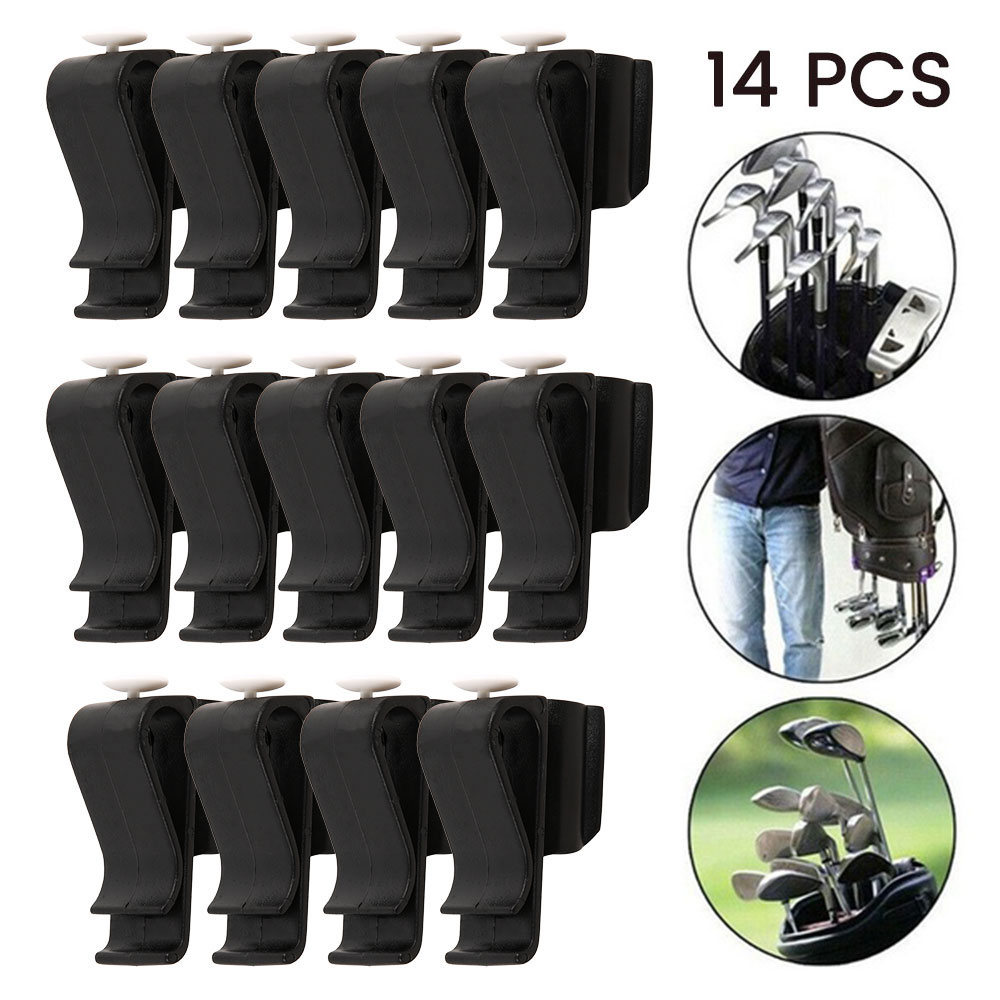 14Pcs Golf Club Putter Clamp Golf Bag Clip On Putter Clips Holder Set Golf Club Organizer Ball Training Golf Sports Accessories
