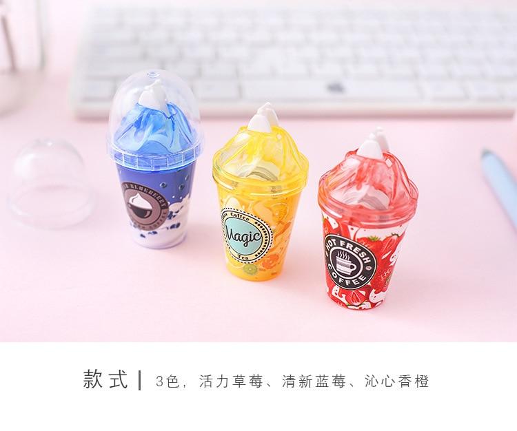 Ellen Brook 1 Piece Cute Kawaii Cartoom Candy Milk Tea Cup Ice Cream Correction Tape Stationery Office School Supplies