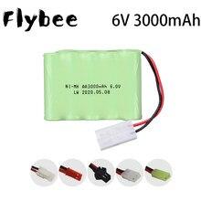 6v 3000mah nimh bateria conjuntos para rc barco rc carro tanque brinquedos modelo de iluminação aa ni-mh 6v bateria recarregável