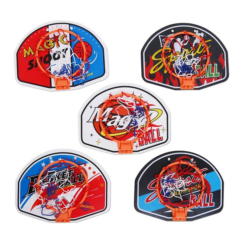Plastic Basketball Hoop Toy Mini Inflatable Ball Pump Backboard Rim Children Multi-color Kids Wall Game New.