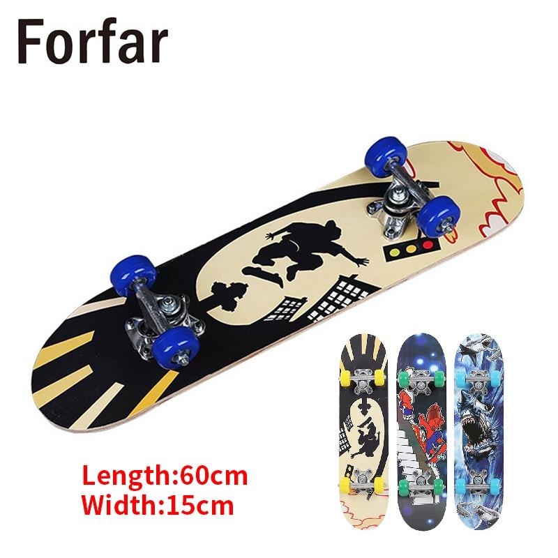 3 Style Complete Skateboard Skate Board Four Wheel Scooter Longboard Pulley Wheel Fashionable Ular For Children Teenagers
