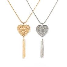 2 Pcs/ Set Trendy Round Pendant Tassel Long Chain Necklace Women Fashion Elegant Party Exquisite Sweater Chain Necklace round pendant chain necklace set 2pcs