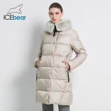 Новая зимняя Женская куртка высокого качества меховой воротник из кролика Рекс Женские пальто Модные женские куртки утолщенные женские GWD18267