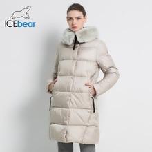 Женская куртка с кроличьим мехом, модная утепленная куртка с воротником из меха кролика Рекс, модель GWD18267 на зиму, 2019