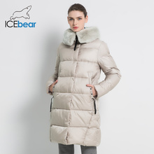 2019 nova jaqueta de inverno das mulheres alta qualidade rex coelho gola de pele casacos femininos moda mulher jaquetas espessadas gwd18267