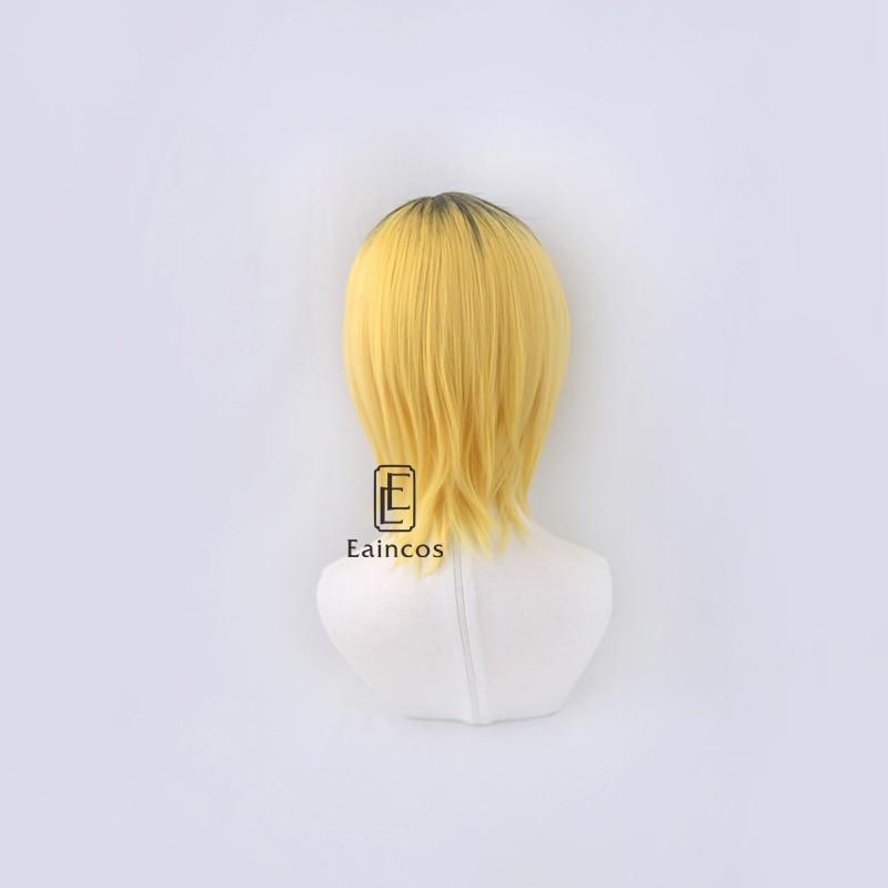 Anime haikyuu!! Nekoma-peruca feminina kzume, para cosplay,