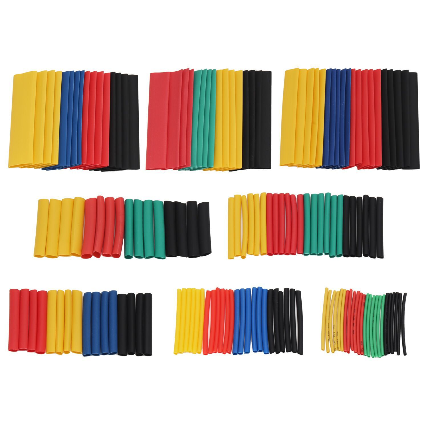 Cross Border 328 PCs Color Environmentally Friendly Waterproof Heat Shrink Tube Flame Retardant Heat Shrinkable Insulation Casin
