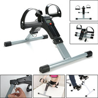 Mini Exercise Bike Leg Arm LCD Machine Cycle Pedal Exerciser Workout Gym Fitness Body Building Steppers Sport Exercise Equipment
