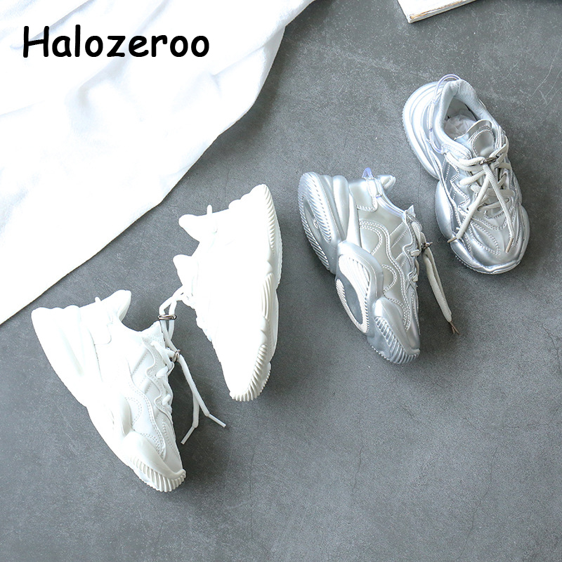Spring Kids Sport Sneakers Children Slip On Chunky Sneakers Baby Girls Casual Sneakers Boys White Brand Shoes Trainers 2020 New