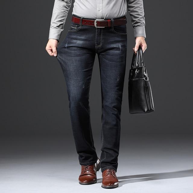 2020 New Design Jeans Mens Pants Cotton Deniem Classic Trousers Casual Stretch Slim High Quality Black Blue Multiple Styles 2