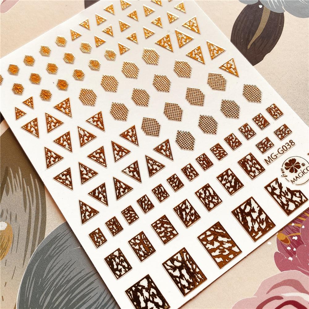 MG-G038-365 Shape Triangle Rhombus Square 3D Back Glue Nail Decal Nail Sticker Nail Decoration Nail Art Nail Tool Nail Ornament
