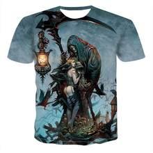 Yaz erkek t-shirt rahat o-ring boyun ksa kollu Tee Tops Hip Hop stil elbise moda Streetwear kafatas 3D T gmlek erkek