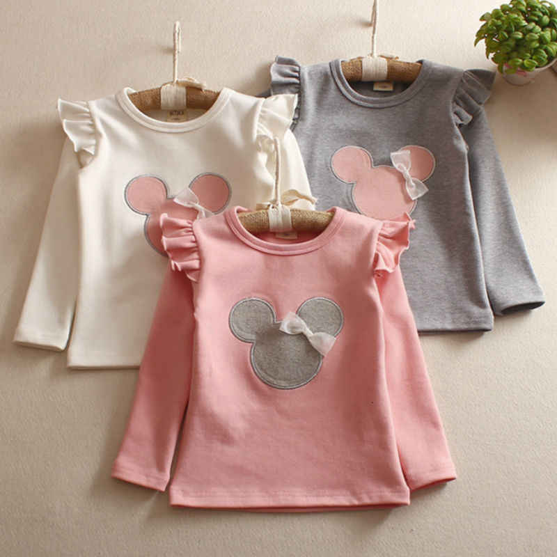 Girls'Long Hülse kinder T-shirt Bodenbildung Shirt Kinder Frühling und Sommer Herbst Lange Ärmeln 2019 Cartoon T-shirt
