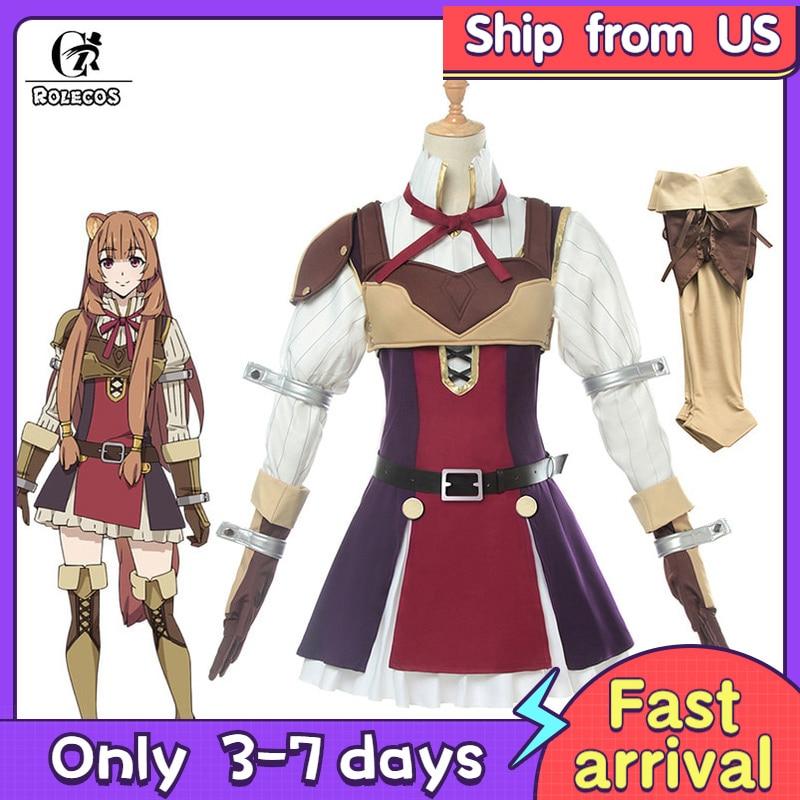 ROLECOS Anime The Rising of the Shield Hero Raphtalia Cosplay Costume Tate no Yuusha no Nariagari Cosplay Women Dress Full Set
