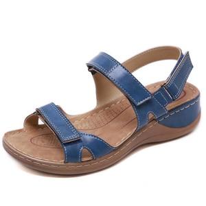 Image 4 - BEYARNENew صنادل الصيف للنساء عدم الانزلاق ، خيط الخياطة الصنادل ، عادي مفتوح حذاء مزود بفتحة للأصابع للسيدات ، منصة الشاطئ shoesL017