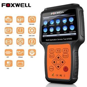 Image 1 - Foxwell NT650 OBD2 Automotive Scanner ABS Airbag SAS EPB DPF TPMS Olio di Reset Iniettore ODB2 Auto Strumento di Diagnostica OBD 2 auto Scanner