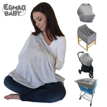 Comfortable Soft Cotton Infinity Baby Nursing Cover Scarf Newborn Breastfeeding Stretchy Infant Lightweight Cart Seat Cover