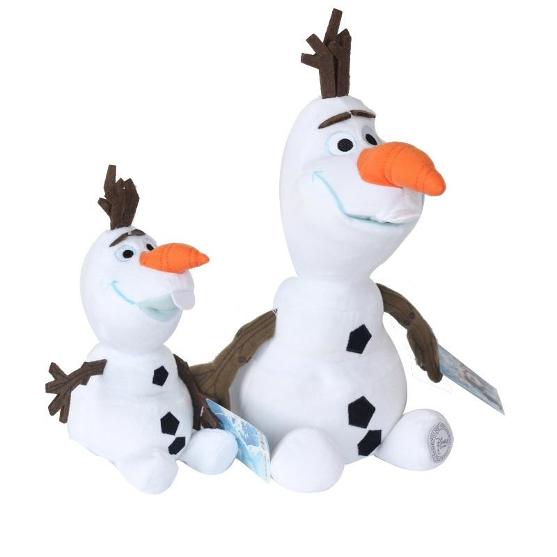 50cm/30cm Disney Olaf Frozen Figures Snowman Cartoon Plush Toys Doll Plush Stuffed Animals For Children Birthday Kids Gifts