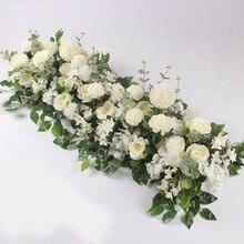 Artificial Flower Row Decor Wedding Wall Backdrop Arrangement Supplies Rose Row Flower Romantic Custom DIY Arch Decor