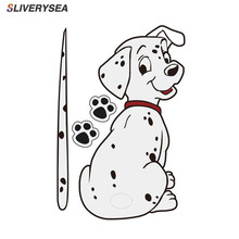 Car Stickers Animal Funny Dalmatian Dog Moving Tail Stickers Rear Windshield Window Wiper Decals Car-Styling Decor Sticker цена