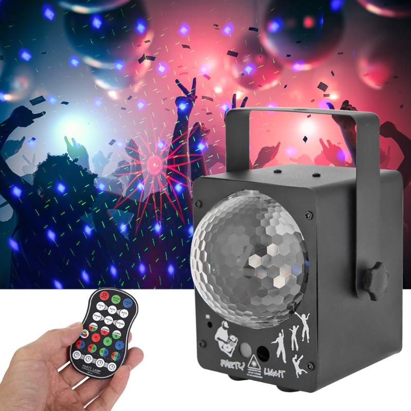 Magic Bulb LED Stage Light Voice Control Laser Projector KTV Bar Disco Lamp