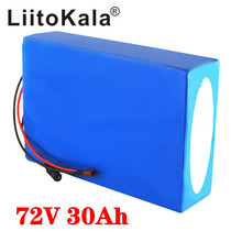 LiitoKala 72V 30Ah battery 72V electric bicycle battery 72V 2000W electric scooter battery 72V lithium battery pack with 30A BMS liitokala 18650 battery 36v 25ah 30ah 20ah 15ah lithium battery electric motorcycle bicycle scooter with bms