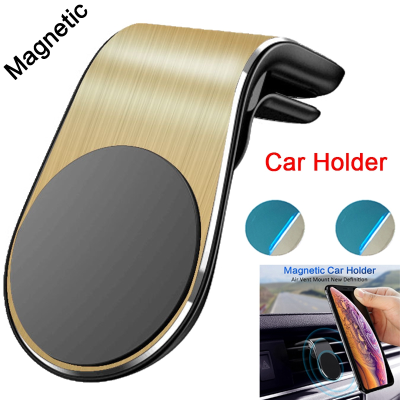 Magnetic Car Phone Holder For IPhone Huawei Samsung Xiaomi Mobile Phone Car Air Vent Mount Stand In Car GPS Mobile Phone Holder