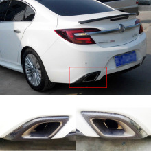 2pcs Carbon Fiber Rear Body Kits Exhaust Muffler Tips Modification Cover For Buick Regal  GS 2009 2016