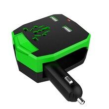 Evrensel arabalar dönüştürücü çok fonksiyonlu USB otomobil şarj adaptörü hızlı şarj 100-250V AC elektronik dijital ürünler