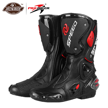 PRO-BIKER Motorcycle Boots Men Botas Moto Motorcycle Shoes Motocross Off-Road SPEED BIKER Motorbike Riding Boots pro biker motorcycle boots moto shoes for motorcycle riding racing motocross boots waterproof motorbike boots black red white