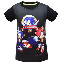 Funny 3D Boys Supersonic Sonic T-shirts Girl Mario Costume Children Clothing Summer Sonic the Hedgehog Kids Clothes Baby T Shirt custom name sonic t shirt boys clothes cool children clothes sonic the hedgehog mario girls sweatshirt boys t shirt kid girl top