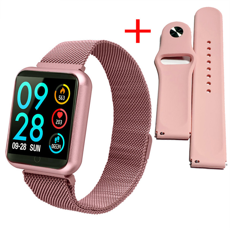 Bracelet Smartwatch Fitness-Tracker Blood-Pressure-Heart-Rate P70 Android Original