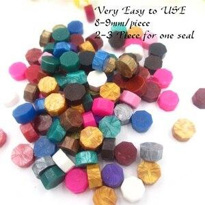 Image 5 - One Bag Sealing Wax Beads Granular Grain 32 34g around 100pcs Wax Seal tablet Multi Color Seal Wax Seal Stamp use Free Shipping