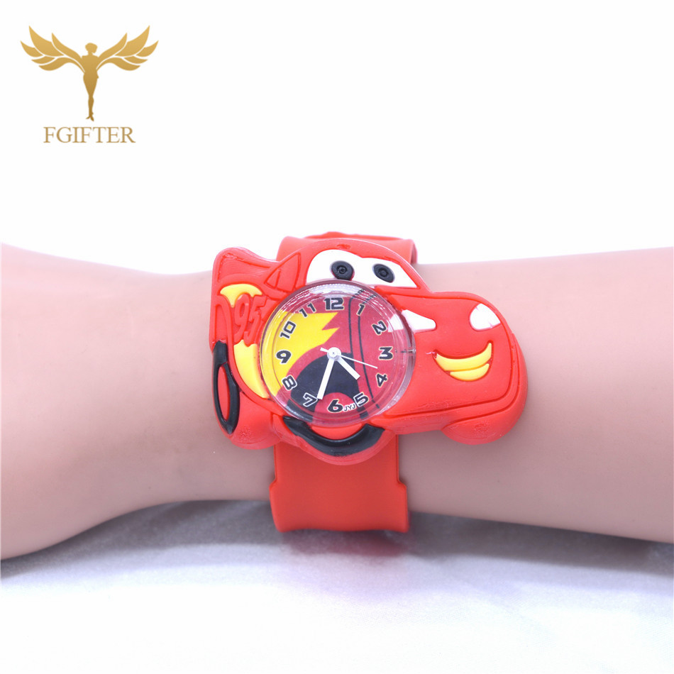 2019 Hot Children Wristwatch Boy Girls Cartoon Car Watch Clock Silicone Slap Watches Students Lovely Cool Child Gift Men Kids Clocks