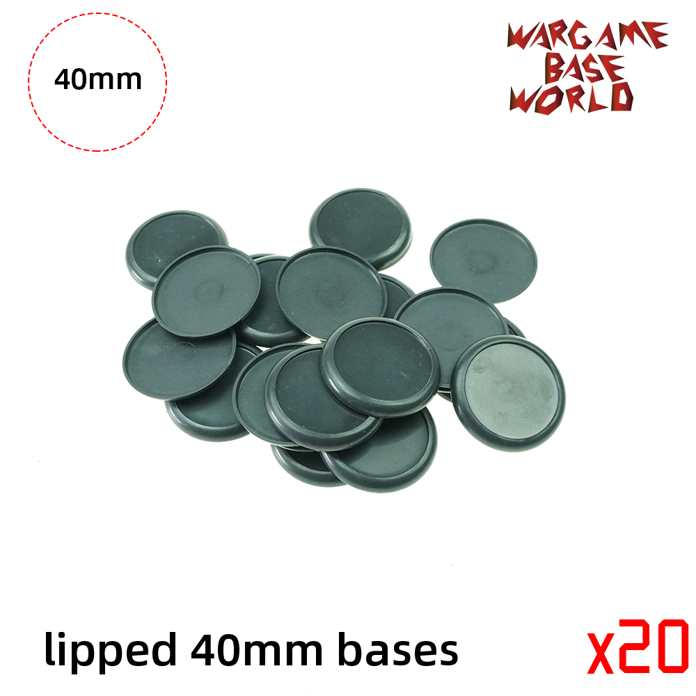40mm Plastic Lipped Bases Table Games Model Bases