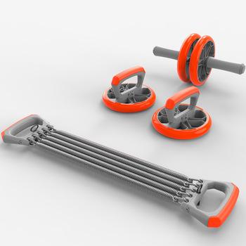 Zestaw do ćwiczeń bez hałasu obręcz na brzuch Roller do ćwiczeń brzucha i opaski elastyczne i pasek wypychający do ćwiczeń sprzęt do ćwiczeń Hip trener siłownia tanie i dobre opinie Stylem klasycznym brzucha trainer Do kompleksowych ćwiczeń sprawnościowych A779 Dwukołowe