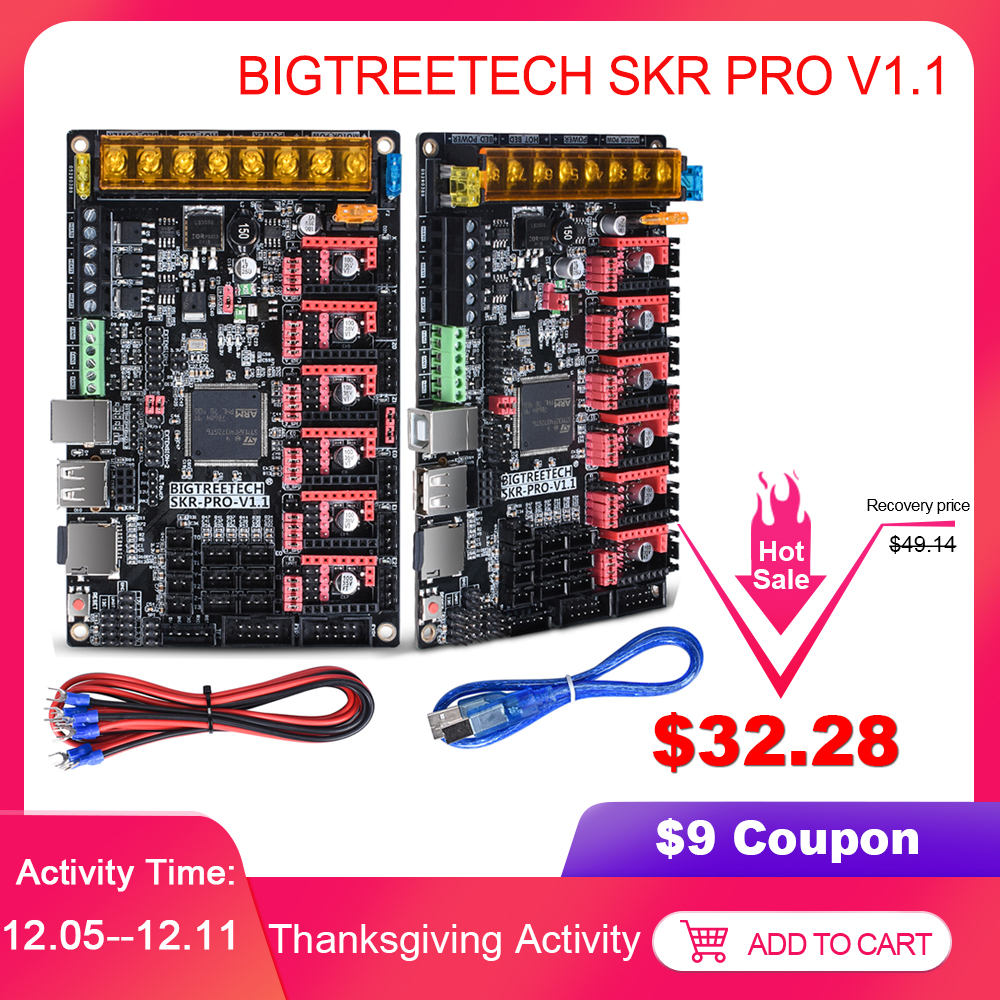 BIGTREETECH SKR PRO V1.1 Control Board 32Bit VS SKR V1.3 Ramps 1.4 3D Printer Parts MKS GEN L For Ender 3/5 CR10 TMC2208 TMC2209