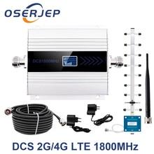 Репитер GSM 1800 МГц, 4G, репитер сотового сигнала, усилитель сигнала, Усилитель DCS 1800 мобильный телефон, усилитель сигнала + антенна